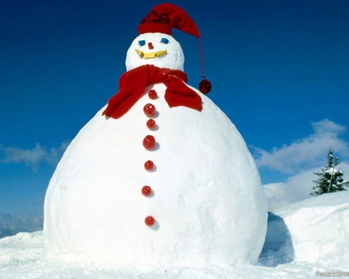 Найбільшого у світі сніговика зліпили у США (ФОТО,ВІДЕО)