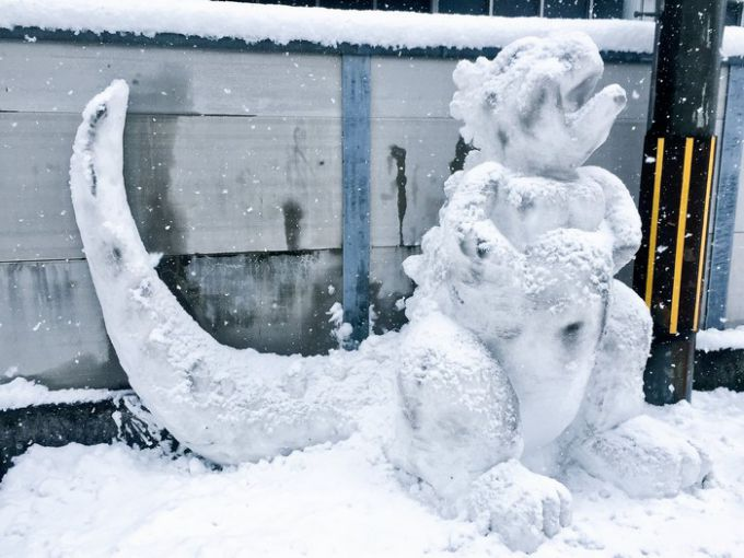 Сніговиків у вигляді покемонів і персонажів мультфільмів зліпили в Японії (ФОТО)