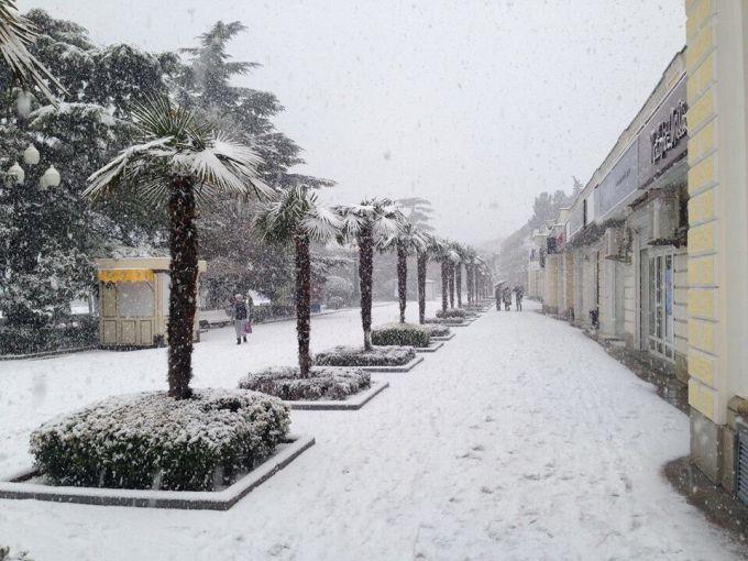 Крим накрили сильні снігопади (ФОТО)