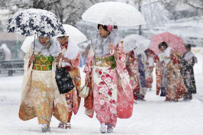 Через аномальний снігопад в Токіо близько 50 осіб отримали поранення
