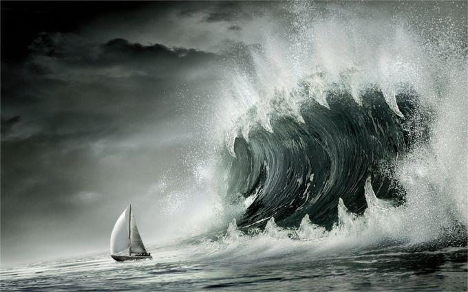 На річці Фучуньцзян на сході Китаю спостерігали страшні хвилі (ВІДЕО)