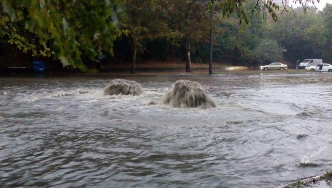 Злива викликала черговий потоп в Одесі (ВІДЕО)