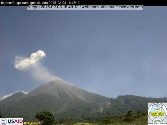 Вулкан Фуего настрашив гватемальців