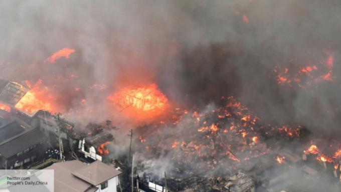 Через сильний вітер в Японії згоріли 140 будинків (ВІДЕО)