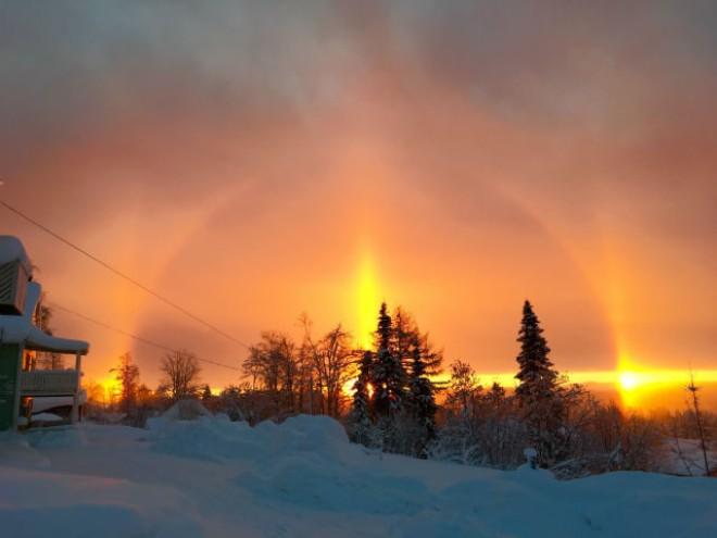 Над Швецією з'явилось унікальне сонячне гало