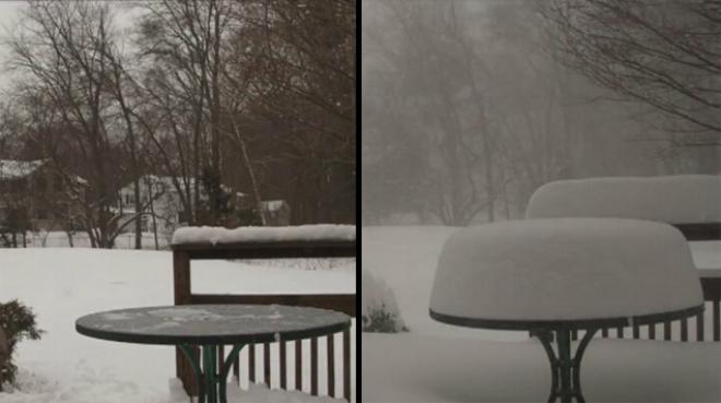 Півметра снігу за 30 секунд (ВІДЕО)