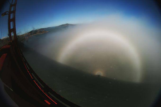 Рідкісне природне явище - туманна веселка (ФОТО)