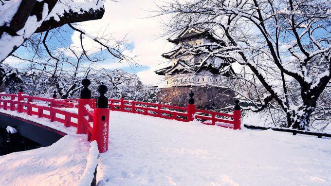 В Японії справжня зима зі снігом
